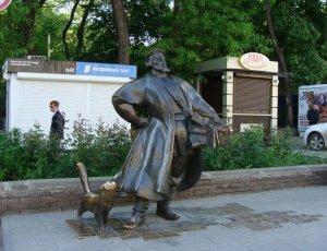 Скульптура «Купец-коробейник»