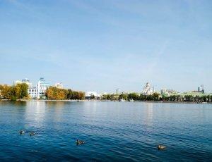 Городской пруд на реке Исеть