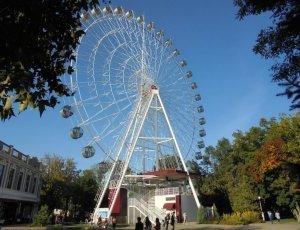 Краснодарское колесо обозрения в Горпарке