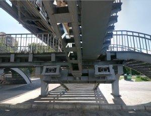 Пешеходный мост на Монастырский остров