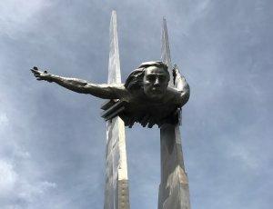 Памятник лётчице Ольге Санфировой