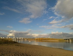 Пляж Бугринская Роща
