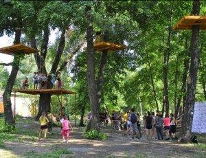 Веревочный парк в Корольковом саду