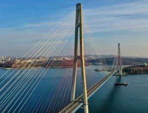 Золотой мост на остров «Русский»