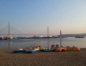 Пляж на Змеинке