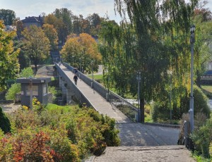 Фото Пешеходный мост через реку Пскову