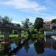 Фото Пешеходный мост через реку Пскову 9