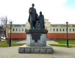 Фото Памятник преподобному Савве Сторожевскому и князю Юрию Звенигородскому