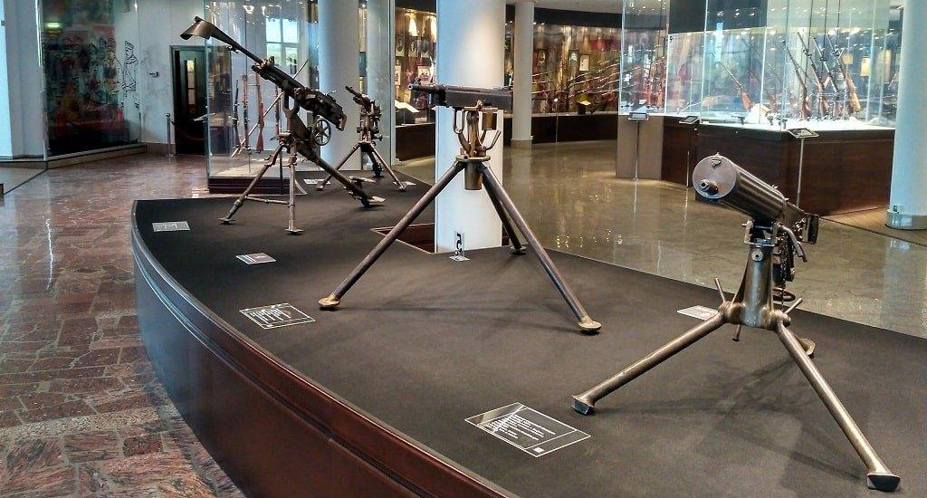 Экспонаты музея оружия