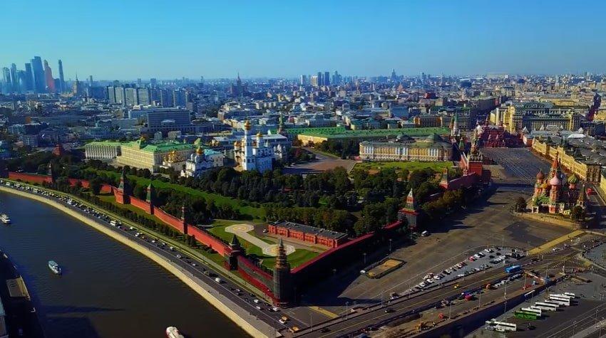 Фото Московского Кремля с дрона (вид сверху)