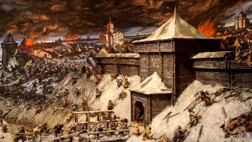 Монгольское нашествие на Московский Кремль