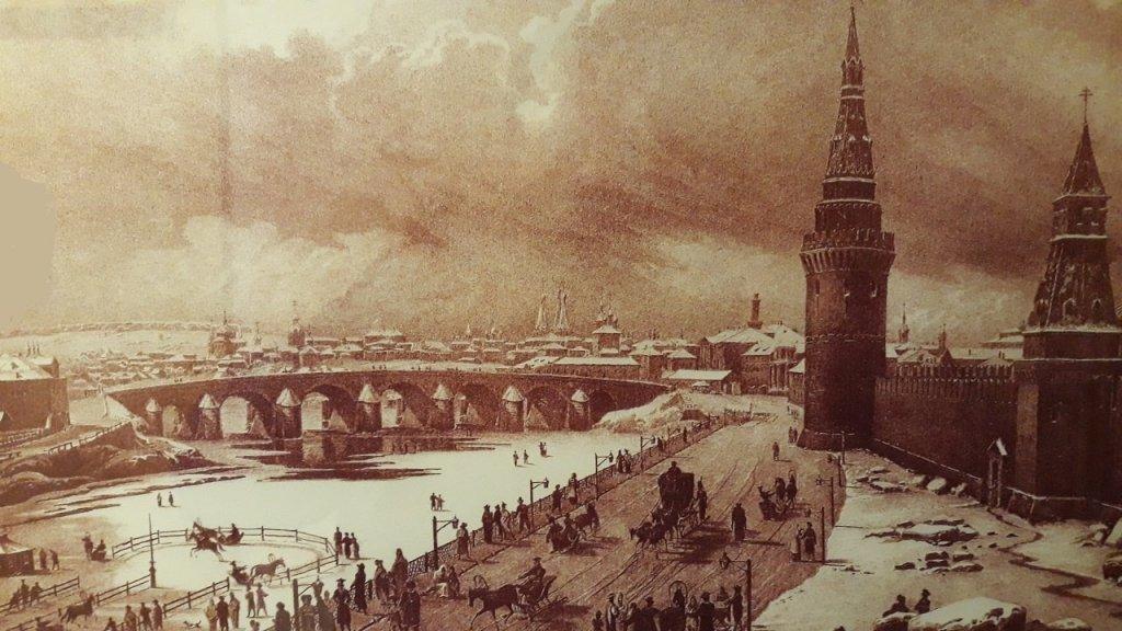 Старинная гравюра Беклемишевской башни