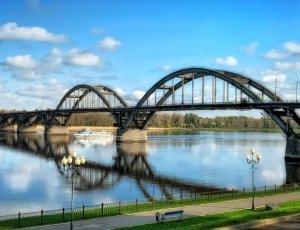 Фото Рыбинский мост через Волгу