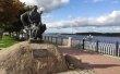 Фото Памятник бурлаку в Рыбинске 1