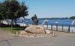 Фото Памятник бурлаку в Рыбинске 3